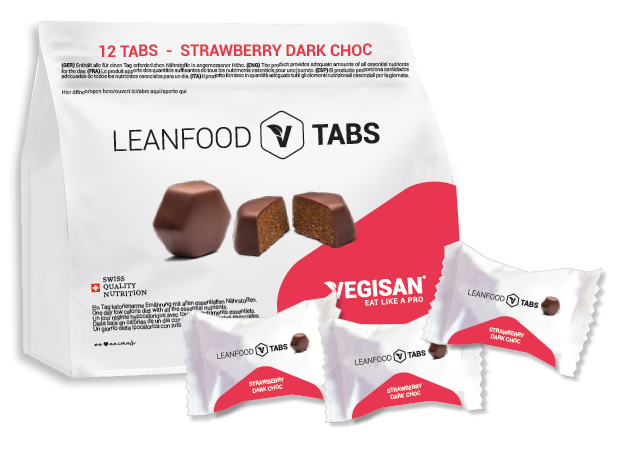 12 TABS STRAWBERRY DARK CHOC Tagesration
