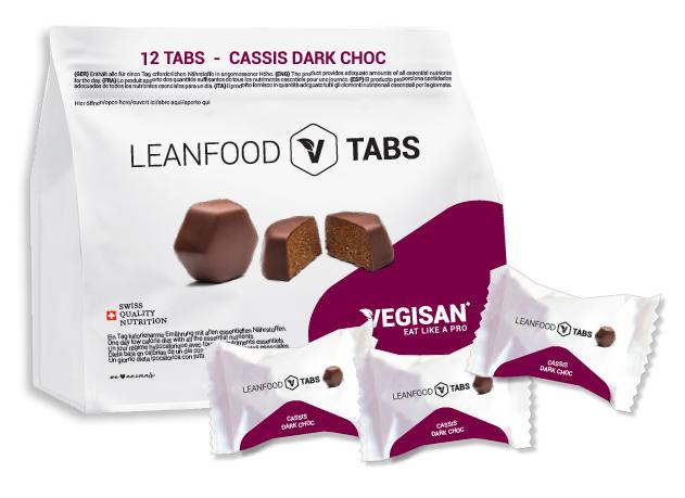 12 TABS CASSIS DARK CHOC