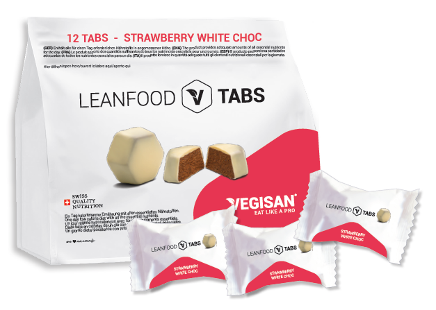 12 TABS STRAWBERRY WHITE CHOC Tagesration