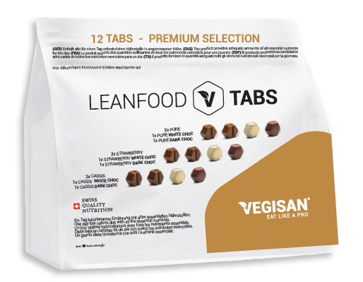 12 TABS PREMIUM SELECTION TABS (50% CHOC TABS) Tagesration